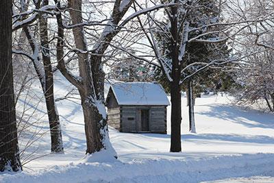 Ott Cabin in Sibley Park